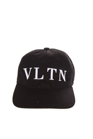 VLTN BLACK COTTON BASEBALL HAT FW 2018 VALENTINO GARAVANI | 17 | QW2H0A11UWG0NO
