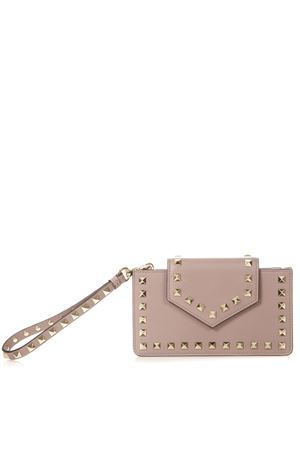 POWDER ROCKSTUD PHONE CASE IN LEATHER FW 2018 VALENTINO GARAVANI | 2 | QW2P0Q13BOLP45