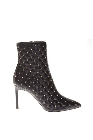 ROCKSTUD QUILTED BLACK LEATHER ANKLE BOOTS FW 2018 VALENTINO GARAVANI | 52 | QW2S0I06NSN0NO