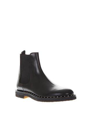 BLACK LEATHER ANKLE BOOTS FW 2018 VALENTINO GARAVANI   52   QY0S0A38EYD0NO