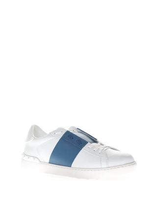 OPEN LOW-TOP WHITE & BLUE LEATHER SNEAKERS FW 2018 VALENTINO GARAVANI   55   QY2S0830BLUQAL