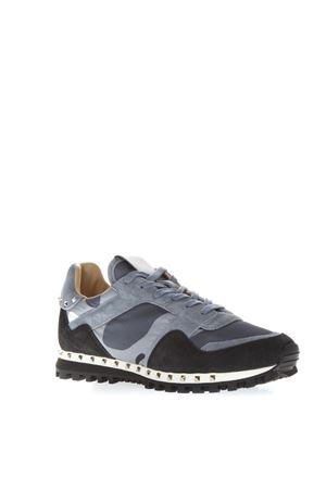 BLUE LEATHER AND SUEDE SNEAKERS FW 2018 VALENTINO GARAVANI   55   QY2S0952NYMAE7
