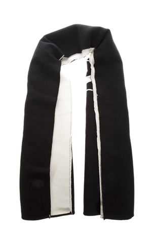 BLACK & WHITE KNITTED WOOL SCARF WITH VLTN LOGO FW 2018 VALENTINO | 20 | QT2ED007VZX0NI