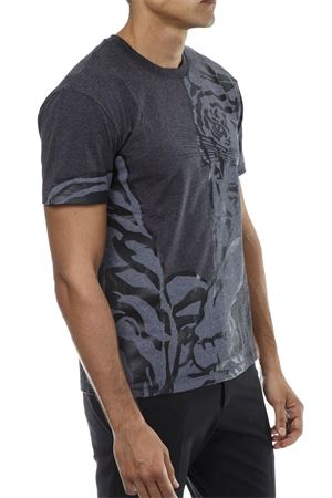 TIGER-RE EDITION GREY COTTON T-SHIRT FW 2018 VALENTINO | 15 | QV0MG13W572113