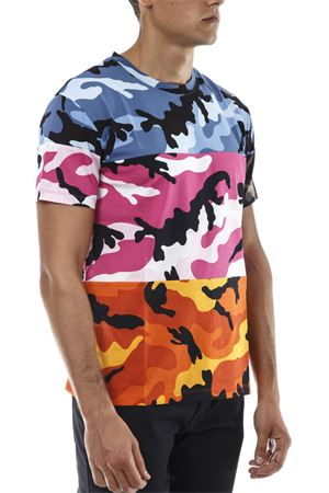 CAMOUSHAFFLE MULTICOLOURED COTTON T-SHIRT FW 2018 VALENTINO | 15 | QV3MG12X3M009T