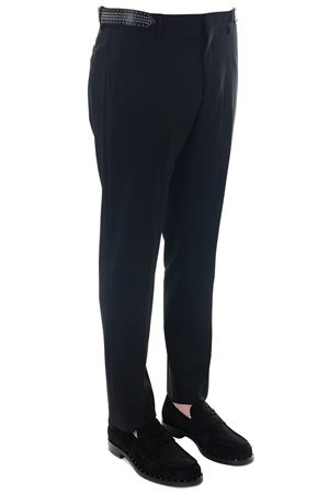 BLACK WOOL TROUSERS WITH MICRO STUDS DETAIL FW 2018 VALENTINO   8   QV3RBA2525S0NO