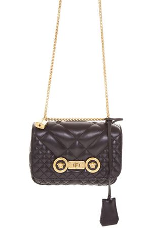 BLACK LEATHER QUILTED ICON BAG FW 2018 VERSACE | 2 | DBFG479DNATR2K41OT