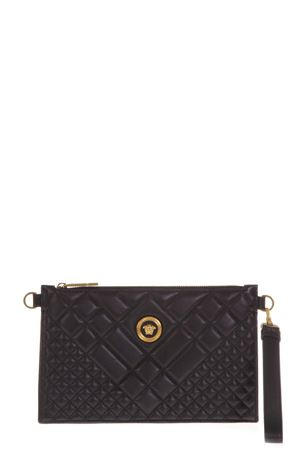 BLACK QUILTED LEATHER CLUTCH WITH MEDUSA LOGO FW 2018 VERSACE | 2 | DP8F786GDNATR2K41OT