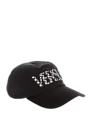 BLACK COTTON HAT WITH CHECK PRINTED VERSUS LOGO FW 2018 VERSUS | 17 | BUC0041BT10524B1008