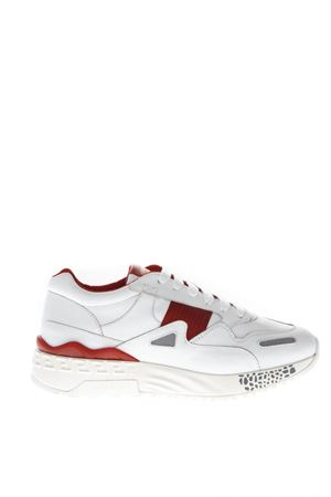 ACHILLES RED & WHITE LEATHER SNEAKERS FW 2018 VERSUS | 55 | DSU6988DNACTGDWRA
