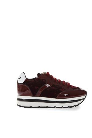 MARGOT RED SUEDE & PATENT SNEAKERS FW 2018 VOILE BLANCHE | 55 | MARGOT001-2012769-02BORDO/RUBINO