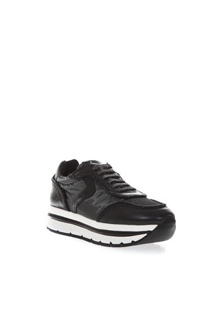 MAY HIGH BLACK SUEDE & NYLON SNEAKERS FW 2018 VOILE BLANCHE | 55 | MAY001-2012883-01NERO
