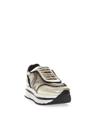 MAY HIGH PLATINE LEATHER & NYLON SNEAKERS FW 2018 VOILE BLANCHE | 55 | MAY001-2012883-01PLATINO