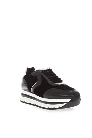 MAY HIGH BLACK LEATHER SNEAKERS FW 2018 VOILE BLANCHE | 55 | MAY001-2013087-02NERO