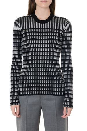 BLACK & GREY BODYCON STRIPED SWEATER FW 2019 McQ ALEXANDER MCQUEEN | 16 | 572923RNK431011