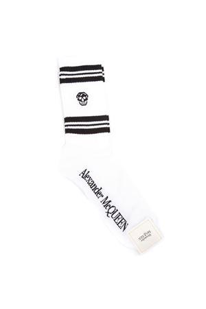 SKULL WHITE COTTON BLEND SOCKS SS 2019 ALEXANDER McQUEEN   110000131   5734584683Q9060