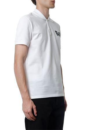 WHITE COTTON POLO SHIRT FW 2019 ALEXANDER McQUEEN | 11 | 575480QNZ940900