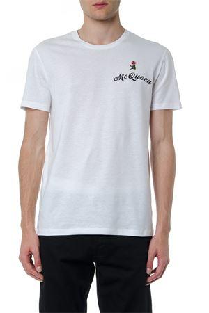 WHITE AMCQ COTTON T-SHIRT FW 2019 ALEXANDER McQUEEN   15   582909QNZ1B0900