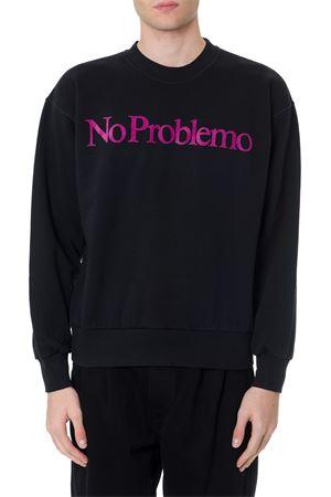 NO PROBLEMO BLACK COTTON SWEATSHIRT FW 2019 ARIES | 16 | FQAR20001142560003