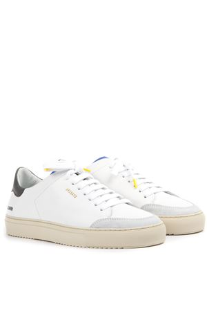 CLEAN 90 WHITE & GREY LEATHER SNEAKERS FW 2019 AXEL ARIGATO | 55 | 28488CLEAN 90GREEN/BLUE/YELLOW