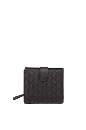 BLACK BRAIDED NAPPA LEATHER MINI WALLET FW 2019 BOTTEGA VENETA | 34 | 121059V001N1000