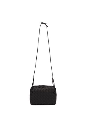 BLACK LEATHER SHOULDER BAG WITH INTRECCIATO DESIGN FW 2019 BOTTEGA VENETA | 2 | 245354V00168175
