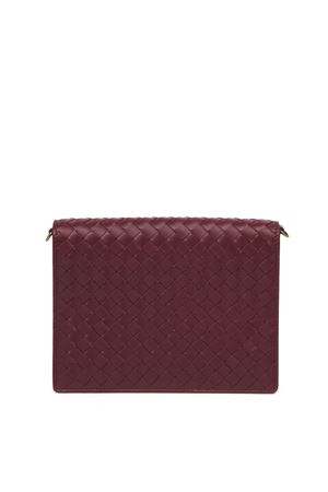 BORDEAUX INTRECCIATO LEATHER SHOULDER BAG FW 2019 BOTTEGA VENETA | 34 | 508752VODAD6337