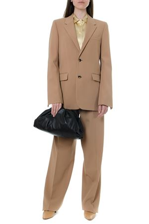 CAMEL WOOL BLAZER WITH LEATHER BELT FW 2019 BOTTEGA VENETA | 27 | 574888VA5Q42620