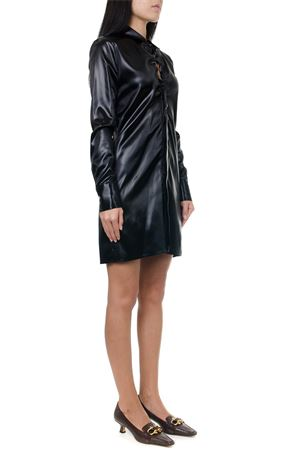 BLACK SATIN MIDI SHIRT DRESS FW 2019 BOTTEGA VENETA | 9 | 591262VKD401000