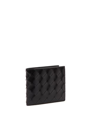 BLACK WOVEN LEATHER WALLET FW 2019 BOTTEGA VENETA | 34 | 592778VMBI28803