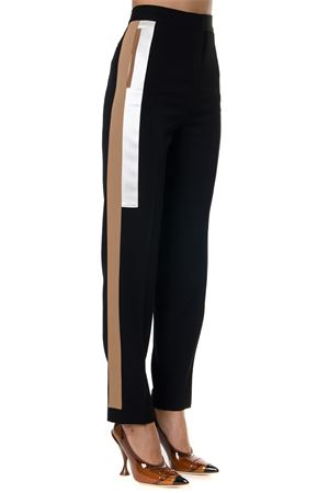 BLACK STRIPE DETAIL WOOL TAILORED TROUSERS FW 2019