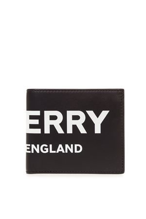 BLACK LEATHER WALLET WITH OVERSIZED LOGO FW 2019 BURBERRY   34   80088871A1189