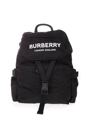 BACKPACK IN BLACK TECHNICAL FABRIC WITH LOGO FW 2019 BURBERRY | 183 | 80106081A1189