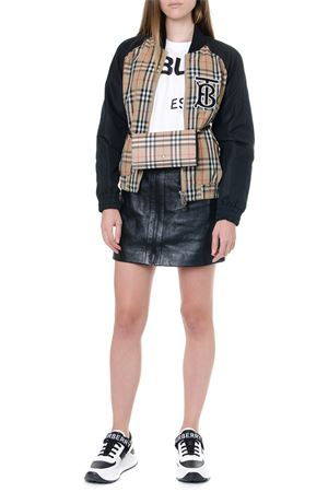 BEIGE AND BLACK MONOGRAM BOMBER JACKET FW 2019 BURBERRY | 27 | 80115331A1189
