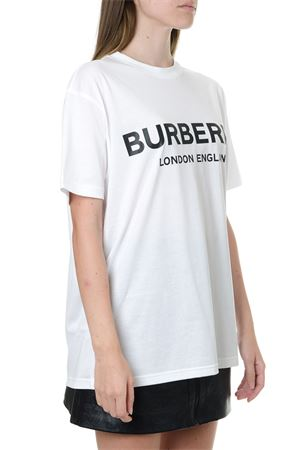 WHITE COTTON T SHIRT WITH LOGO PRINT FW 2019 BURBERRY | 15 | 80125601A1464