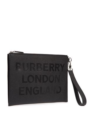 BLACK PRINTED LEATHER CLUTCH FW 2019 BURBERRY | 2 | 80146841A1189