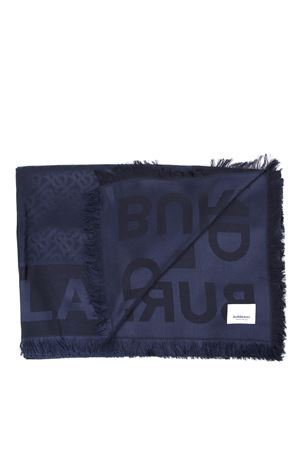 WOOL & SILK NAVY LOGO SCARF FW 2019 BURBERRY | 20 | 80148771A1222