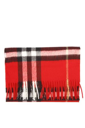 RED CASHMERE TARTAN SCARF FW 2019 BURBERRY | 20 | 80155261A1383