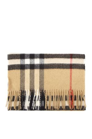CAMEL CASHMERE TARTAN PATTERN SCARF FW 2019 BURBERRY | 20 | 80155271A5655