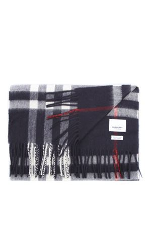 BLUE CASHMERE TARTAN PATTERN SCARF FW 2019 BURBERRY | 20 | 80155421A1222