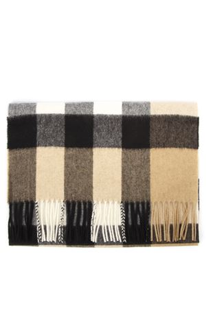 CAMEL CASHMERE CHECK PATTERN SCARF FW 2019 BURBERRY | 20 | 80155521A1420