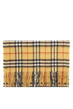 YELLOW CASHMERE VINTAGE CHECK SCARF FW 2019 BURBERRY | 20 | 80155561A2442
