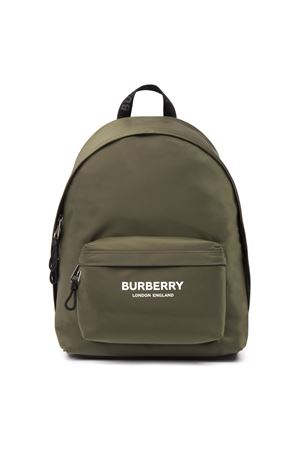 GREEN NYLON BACKPACK WITH LOGO FW 2019 BURBERRY | 2 | 80161101A3247