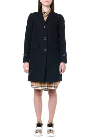 BLACK COTTON SINGLE BREASTED TRENCH COAT FW 2019