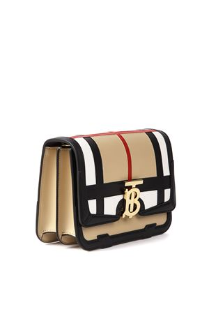 BEIGE LEATHER CHECK PRINT SHOULDER BAG FW 2019 BURBERRY | 2 | 80210141A1189
