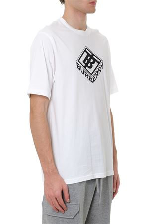 WHITE COTTON T SHIRT WITH LOGO PRINT FW 2019 BURBERRY | 15 | 80218321A1464