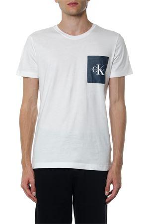 T-SHIRT IN COTONE BIANCO CON LOGO CK AI 2019 CALVIN KLEIN JEANS | 15 | J30J312993UNI112