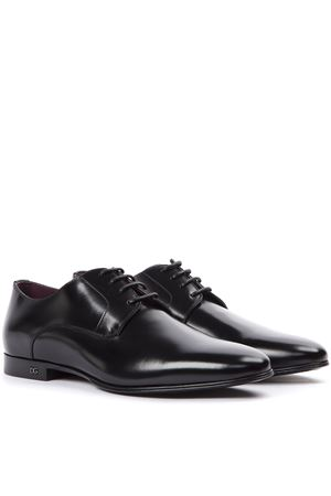 BLACK LEATHER DERBY SHOES FW 2019