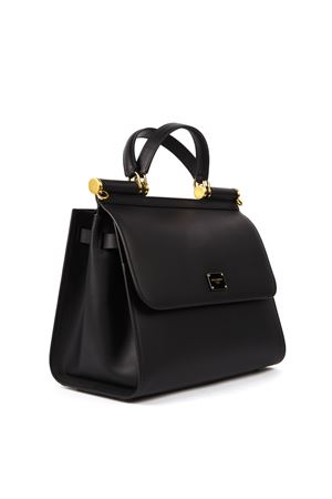 LARGE SICILY 58 BLACK SMOOTH LEATHER HANDBAG FW 2019 DOLCE & GABBANA | 2 | BB6621AV38580999