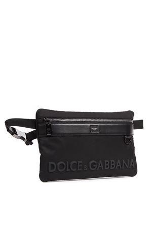 BLACK LOGO EMBOSSED BELT BAG FW 2019 DOLCE & GABBANA | 2 | BM1702AK7668B956